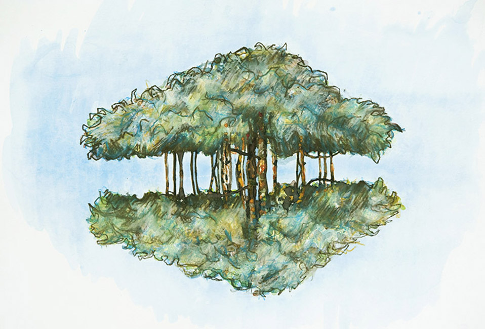 The Banyan Tree, original painting